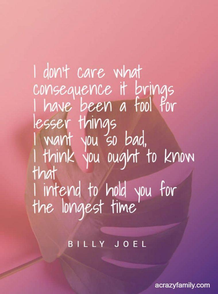 Billy Joel, For the longest time, song lyrics
