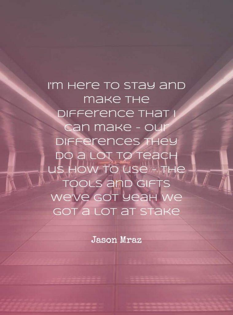 romantic song lyrics by Jason Mraz, I won't give up