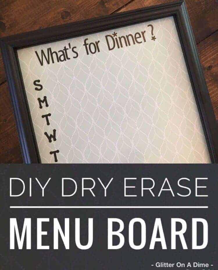 diy dry erase whiteboard
