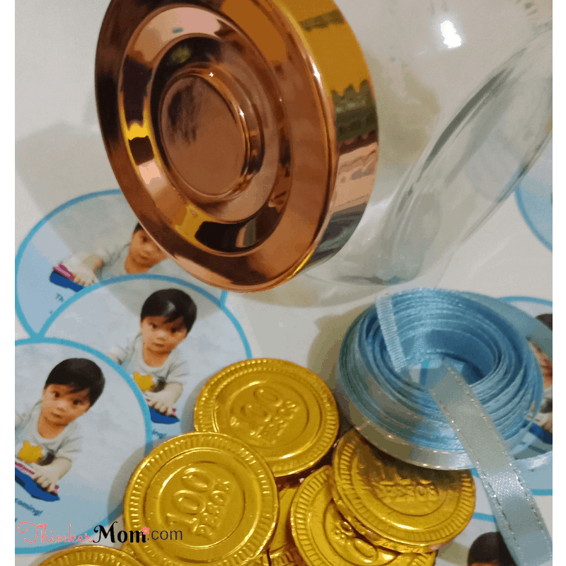 diy craft to make and sell a jar of gold chocolate coins