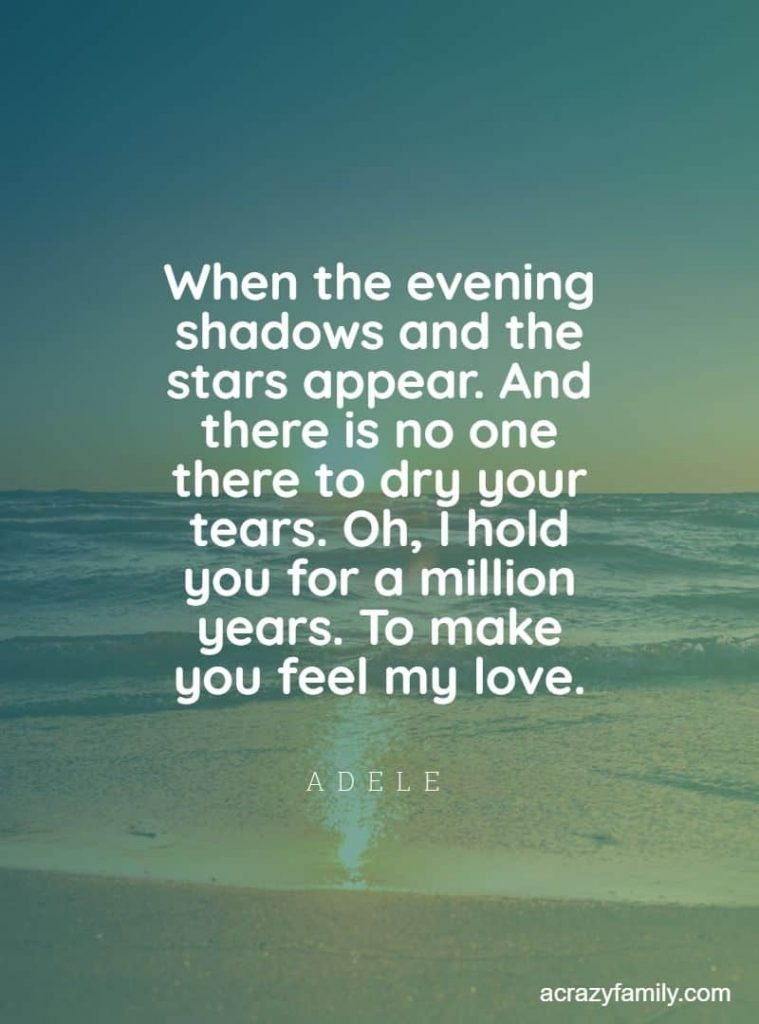 Made you feel my love by Adele romantic song lyrics