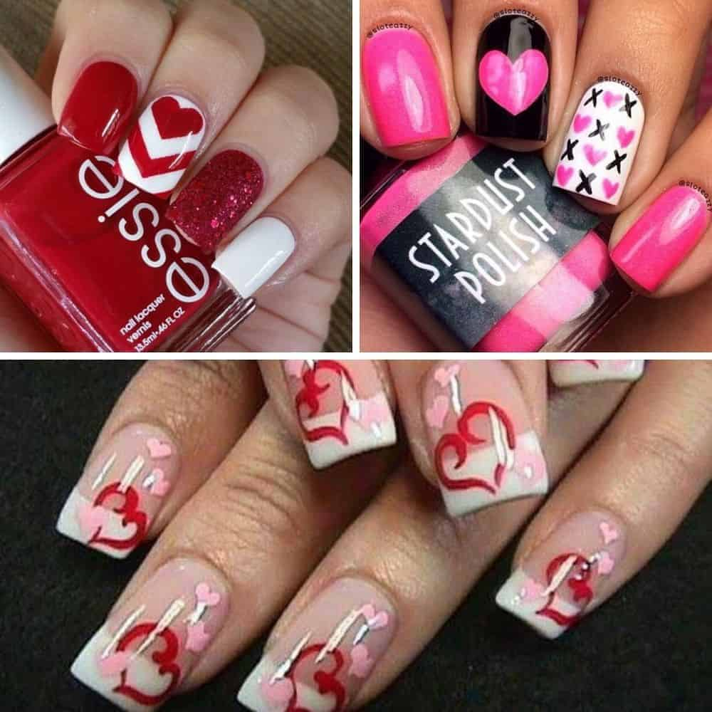 70+ Romantic Nail Art Designs For Valentine's Day