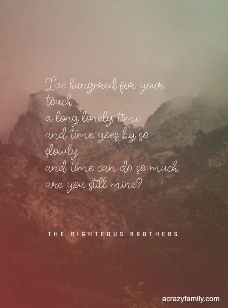The Righteous Brothers Unchained Melody Romantic song lyrics