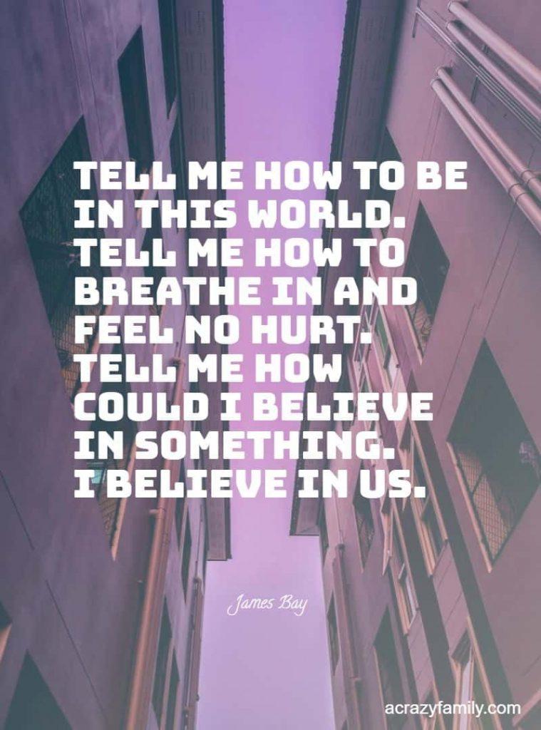 Us by James Bay Romantic song lyrics