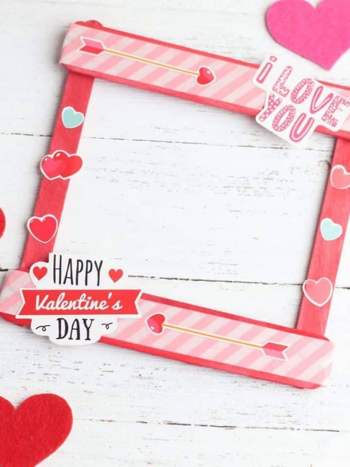 Popsicle Stick Valentine Picture Frame