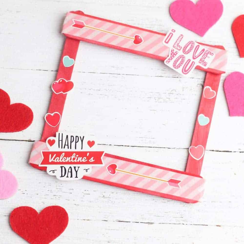 Popsicle Stick Valentine Picture Frame