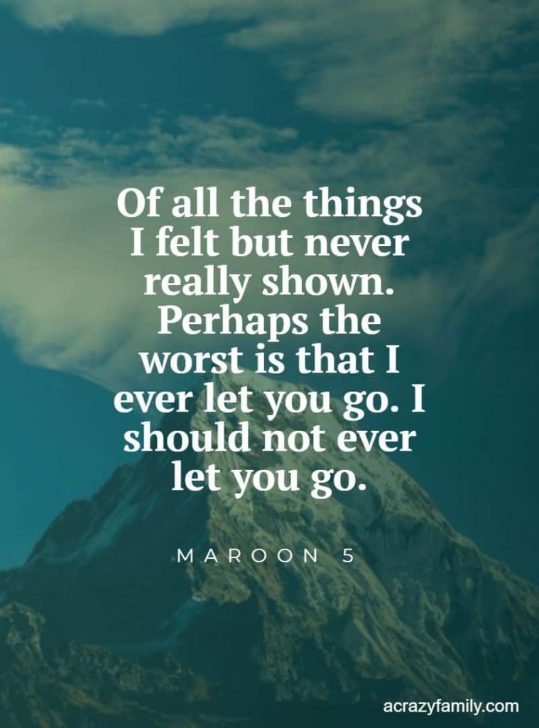 Won't go home without you by Maroon 5 romantic song lyrics