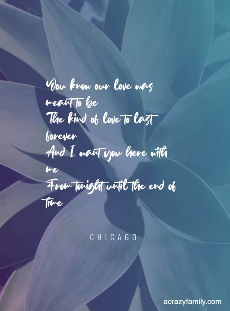 You're the inspiration by Chicago song lyrics