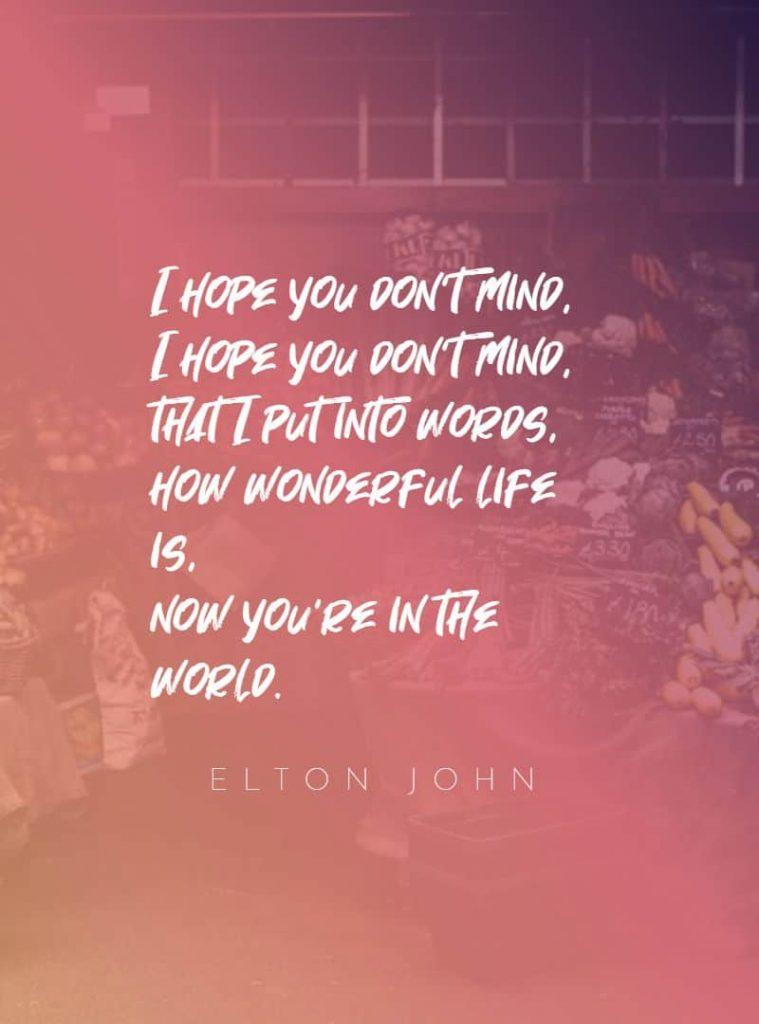 Your song by John Lennon song lyrics