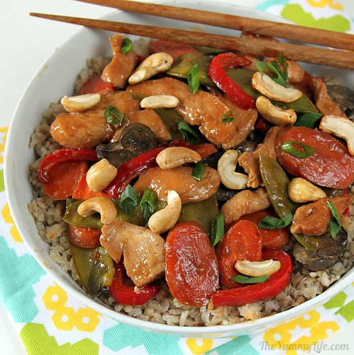 Oven Asian stir fry easy dinner recipe