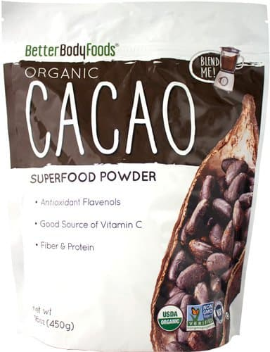 LIVfit Superfood Organic Cacao Powder — 100% Organic Cacao Powder 1lb, Enjoy A Delicious And Guilt-Free Chocolate Superfood, Produced by BetterBody Foods