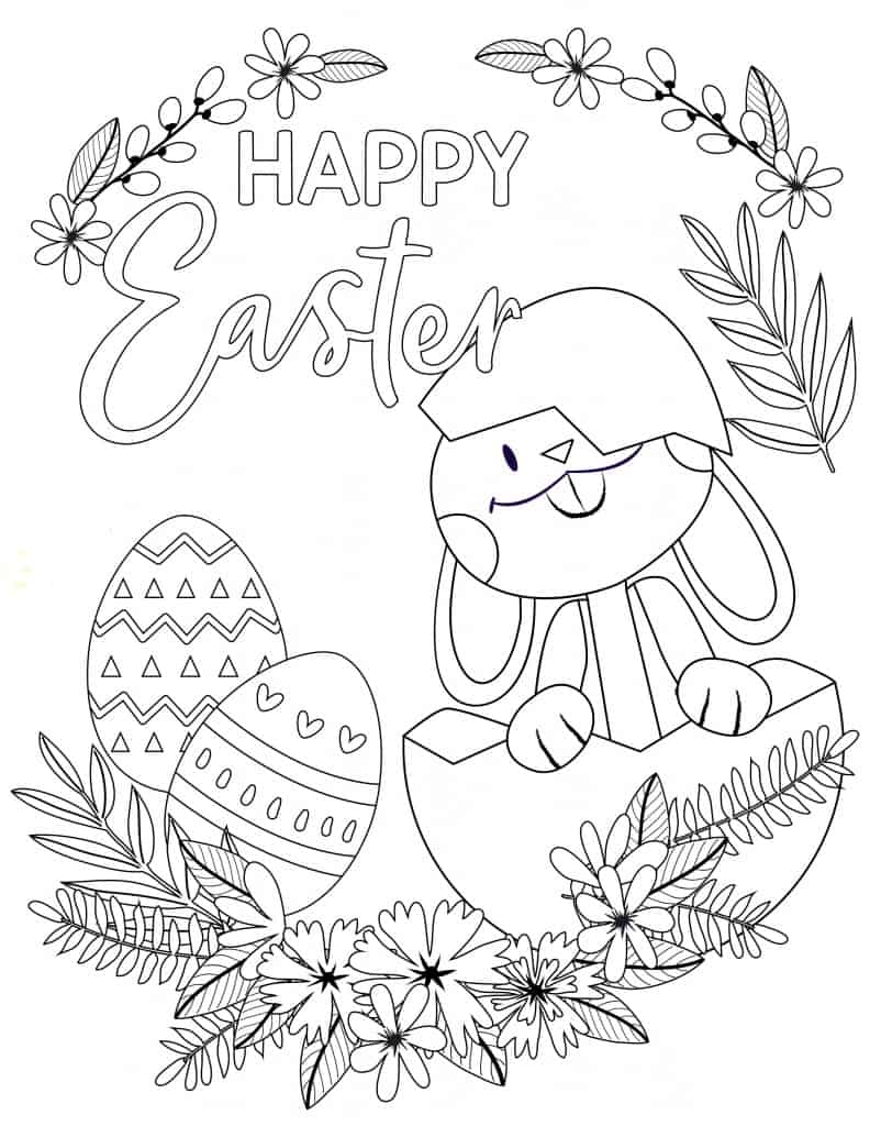 Fun Printable Easter Maze & Coloring Activities For Kids