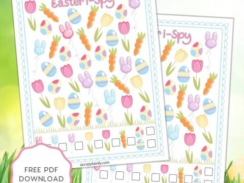 Easter I Spy - Free Printable