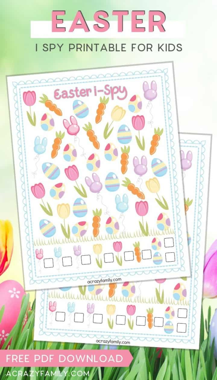 Easter I Spy - Free Printable