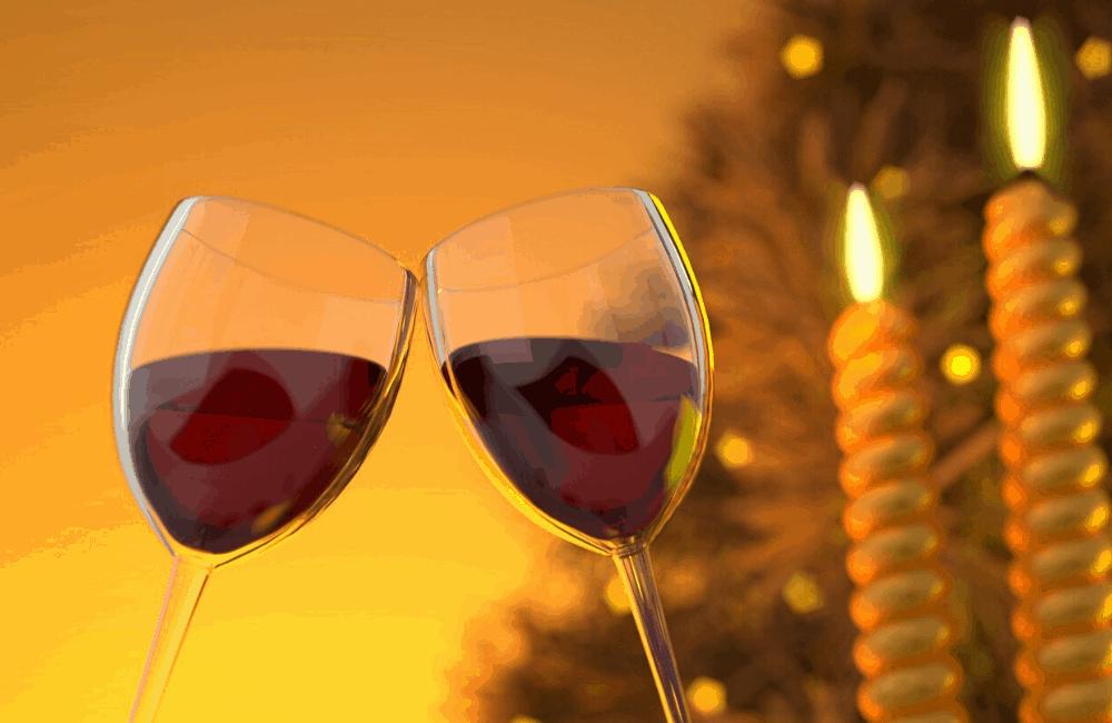 Wine glasses at wine tasting