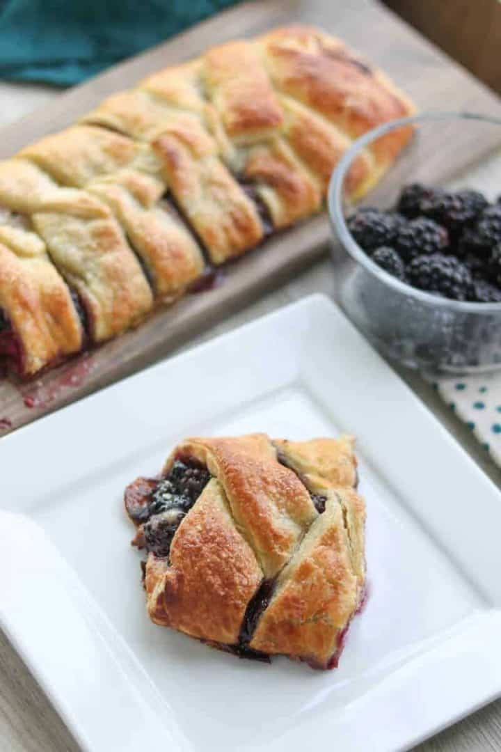 Fresh Blackberry Strudel