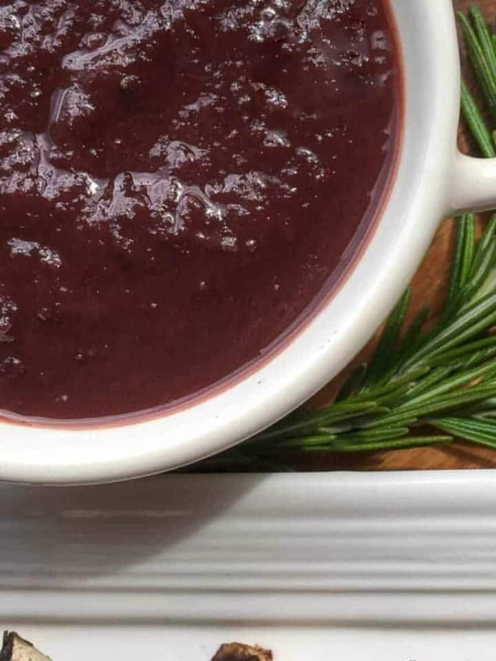 Instant Pot Dark Cherry BBQ Sauce