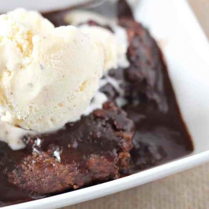 Hot Chocolate Brownie Pudding