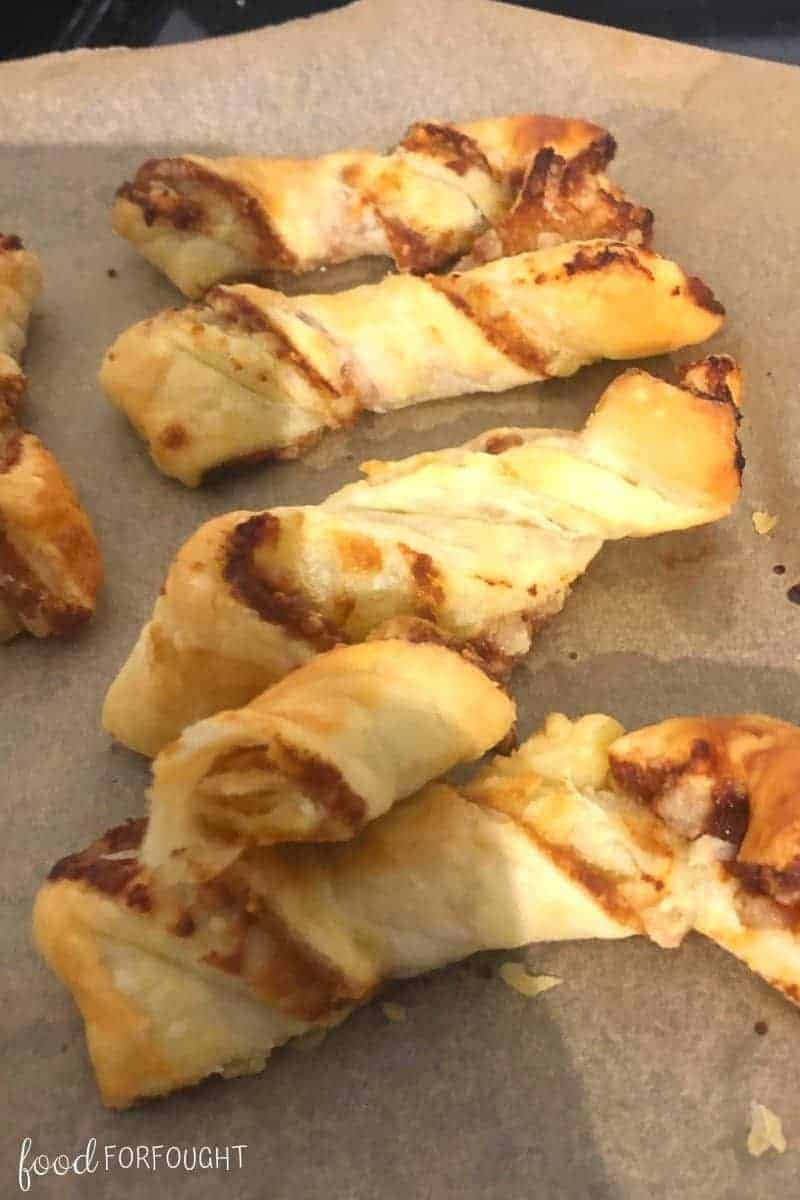 Cheese and Marmite Puff Pastry Twists