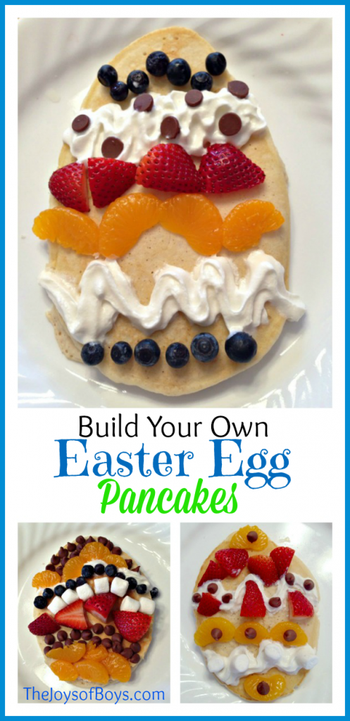 Build Your Own Easter Egg Pancakes - fun Easter recipes for kids