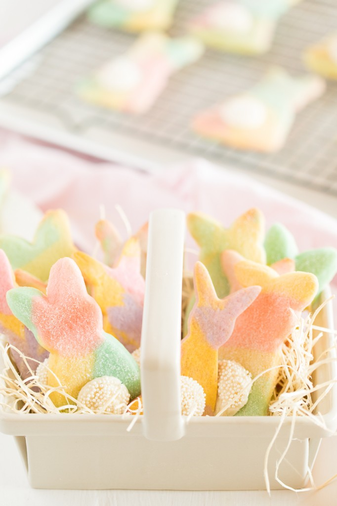 Easter Bunny Marbled Cut Out Cookies