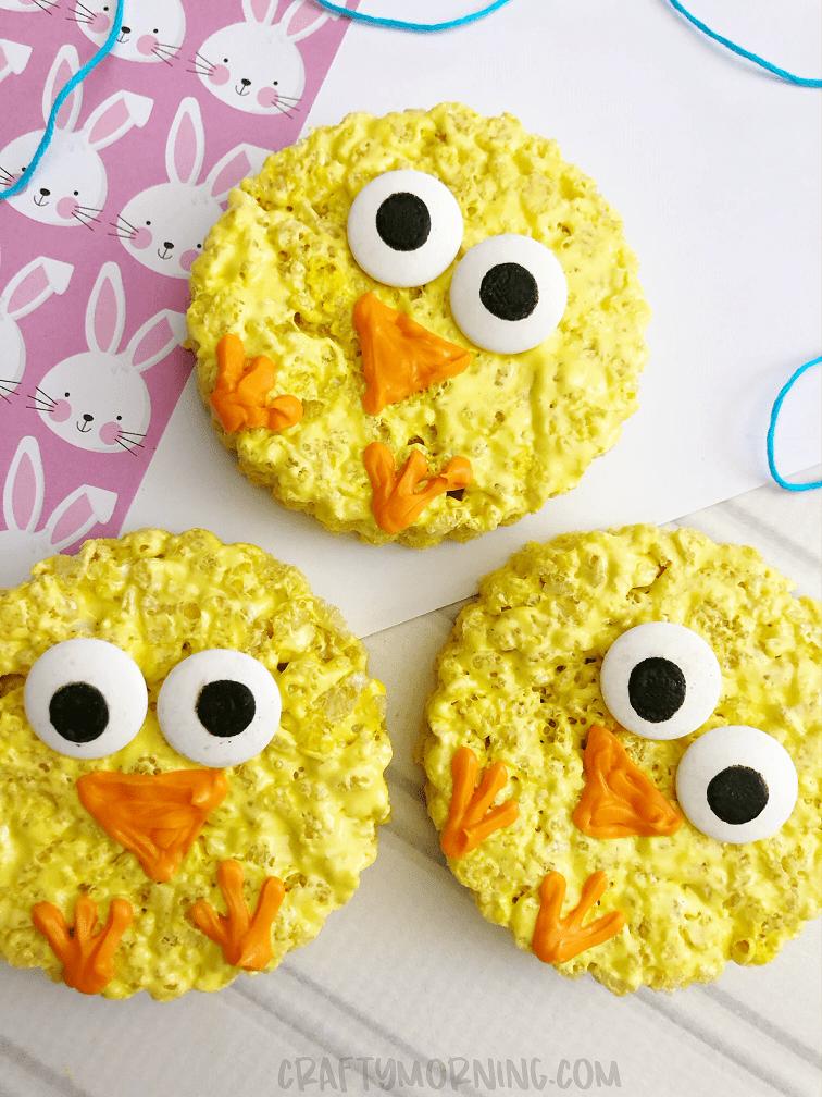 Rice Krispie Easter Chicks