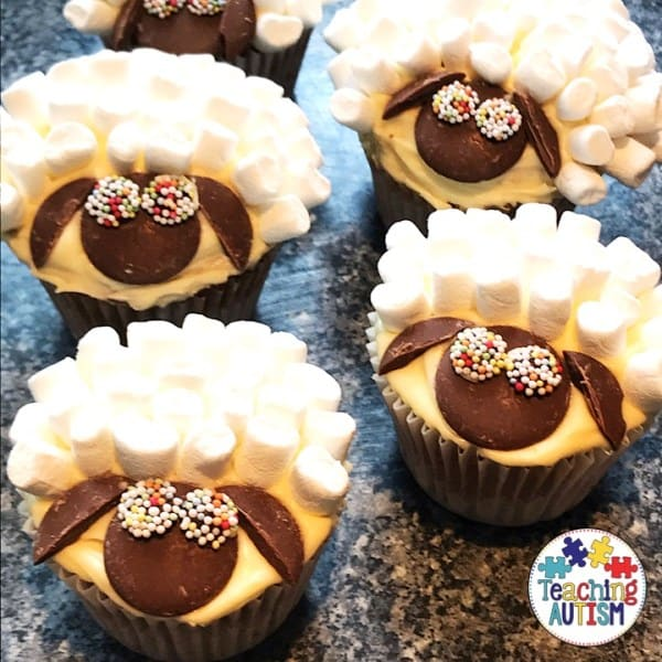 Marshmallow Sheep Cupcakes - fun Easter recipes for kids