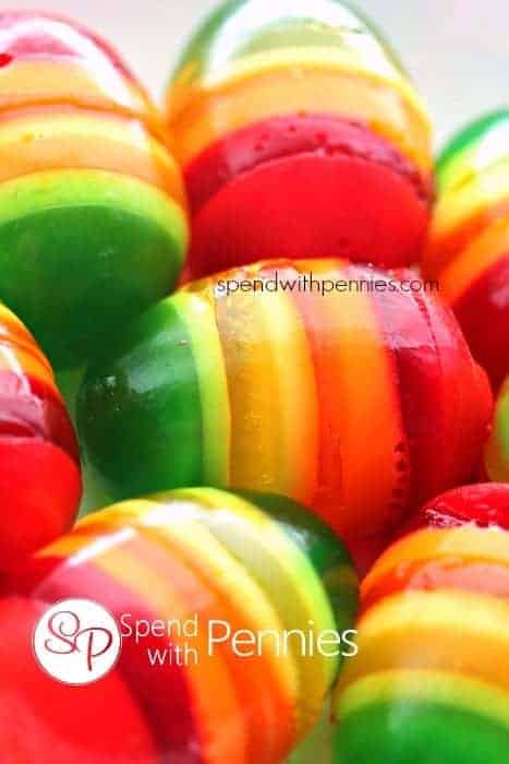 Rainbow Jell-O Easter Eggs - fun Easter recipes for kids