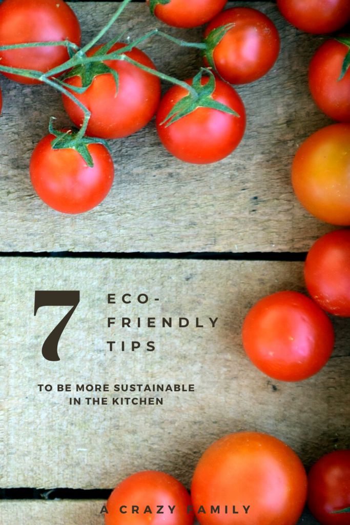 Pinterest image for 7 Eco-Friendly Tips To Be More Sustainable In The Kitchen