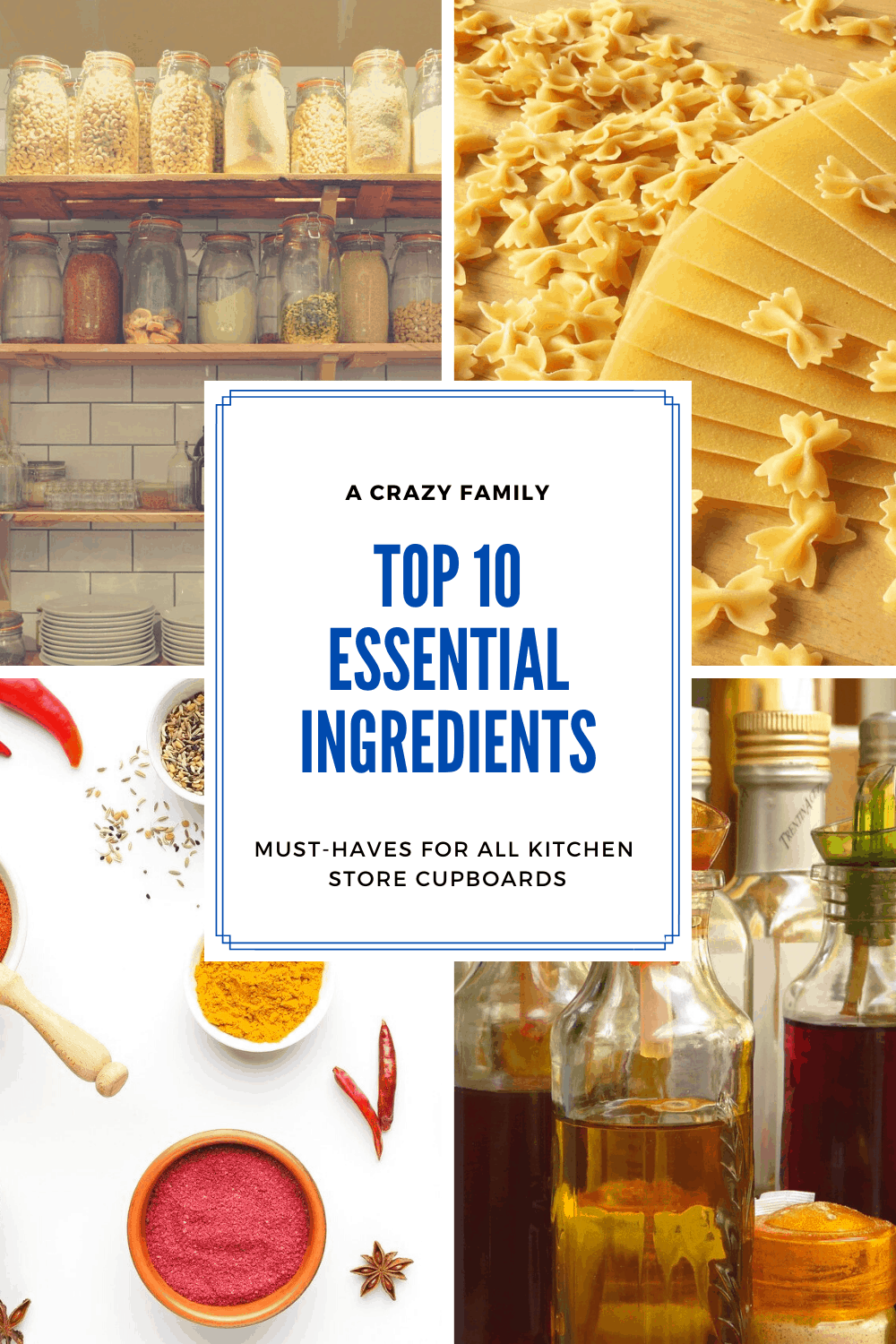 Pinterest image for Top 10 Essential Ingredients For Cooking That You Need In Your Kitchen Cupboard