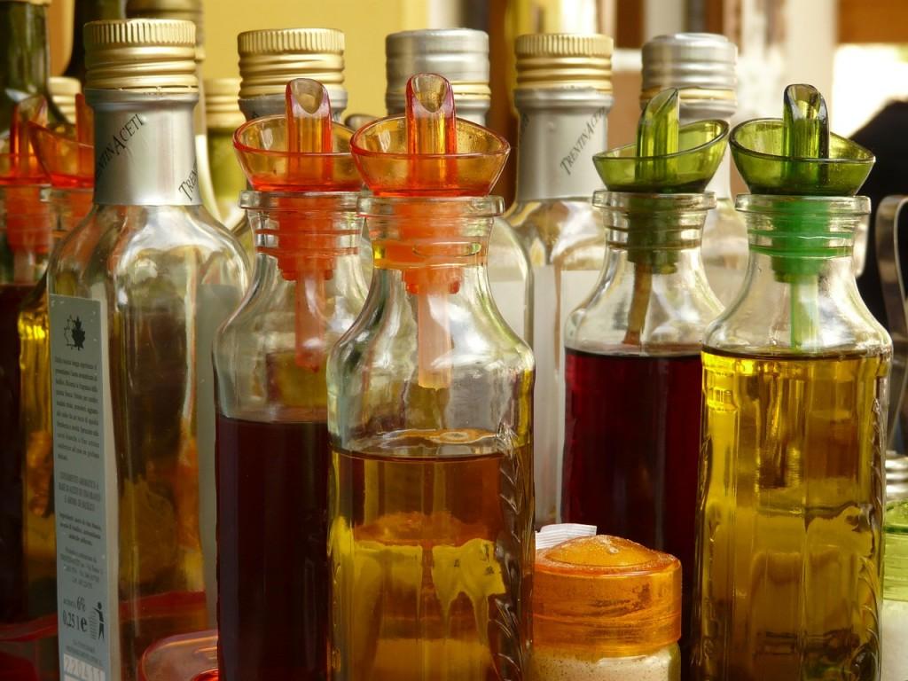 Vinegar bottles  - an essential ingredient