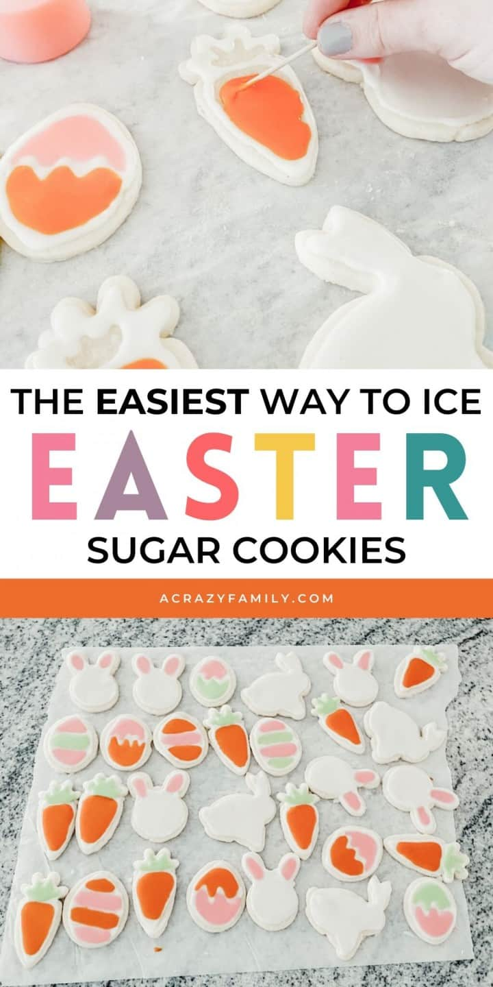 The Easiest Way To Ice Easter Sugar Cookies