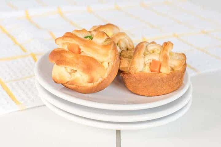 Chicken pot pies with 5 ingredients or less