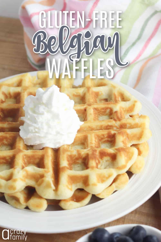 Gluten-free belgian waffles image for pinterest