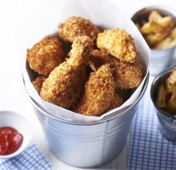 Healthier chicken bucket