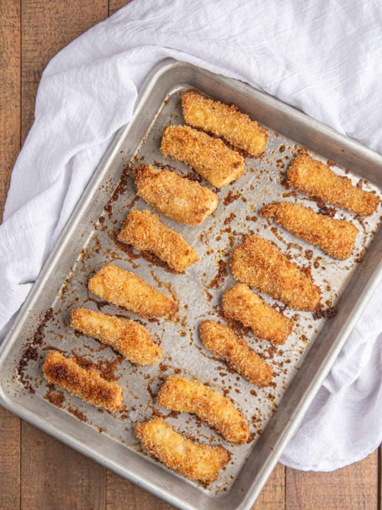 Fish fingers in a pan