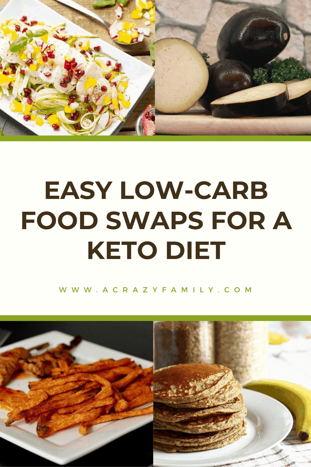 Pinterest image for 8 Easy Low Carb Food Swaps For Healthier Meals
