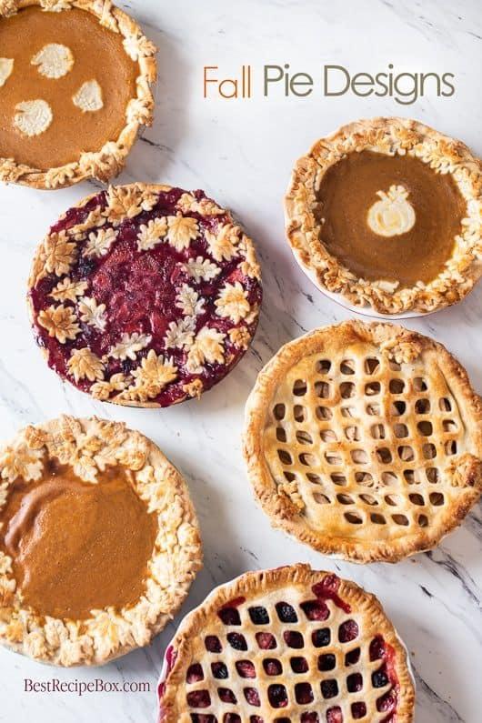 Fall pie designs for Halloween pie ideas