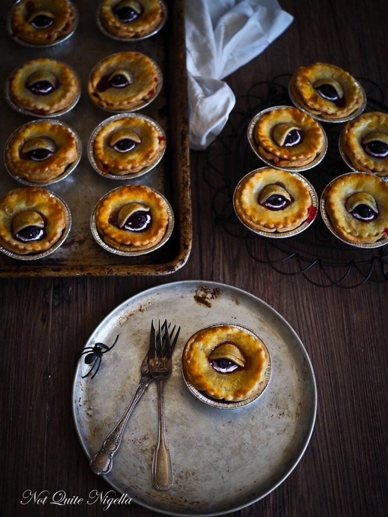 Rhubarb eye pies