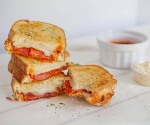 Air Fryer Pepperoni Grilled Cheese