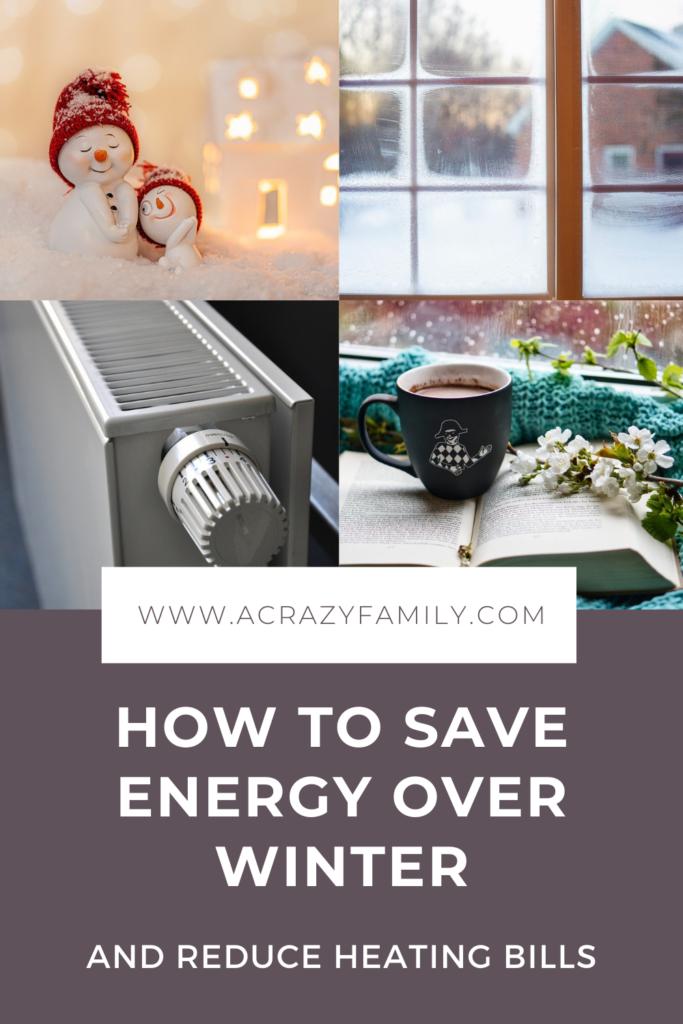 Pinterest image for Fall & Winter Energy Saving Tips