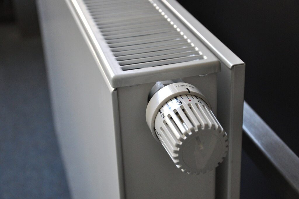 Close up of wall radiator