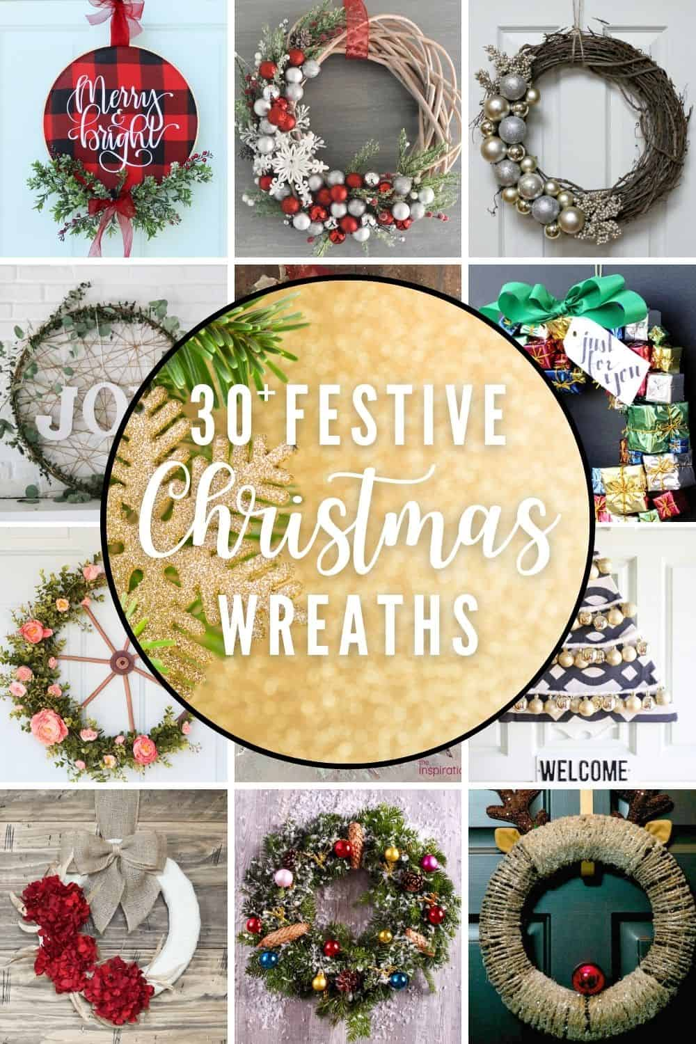 30+ Super Easy Festive DIY Christmas Wreaths