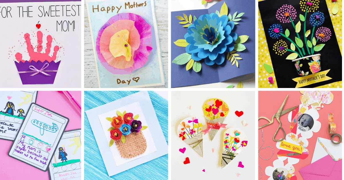 20 Easy & Adorable DIY Mother's Day Cards For Kids To Make