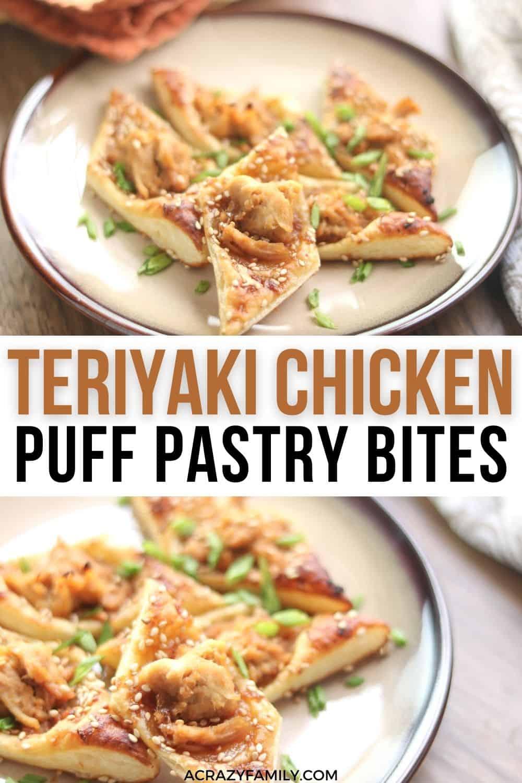 Teriyaki Chicken Puff Pastry Bites