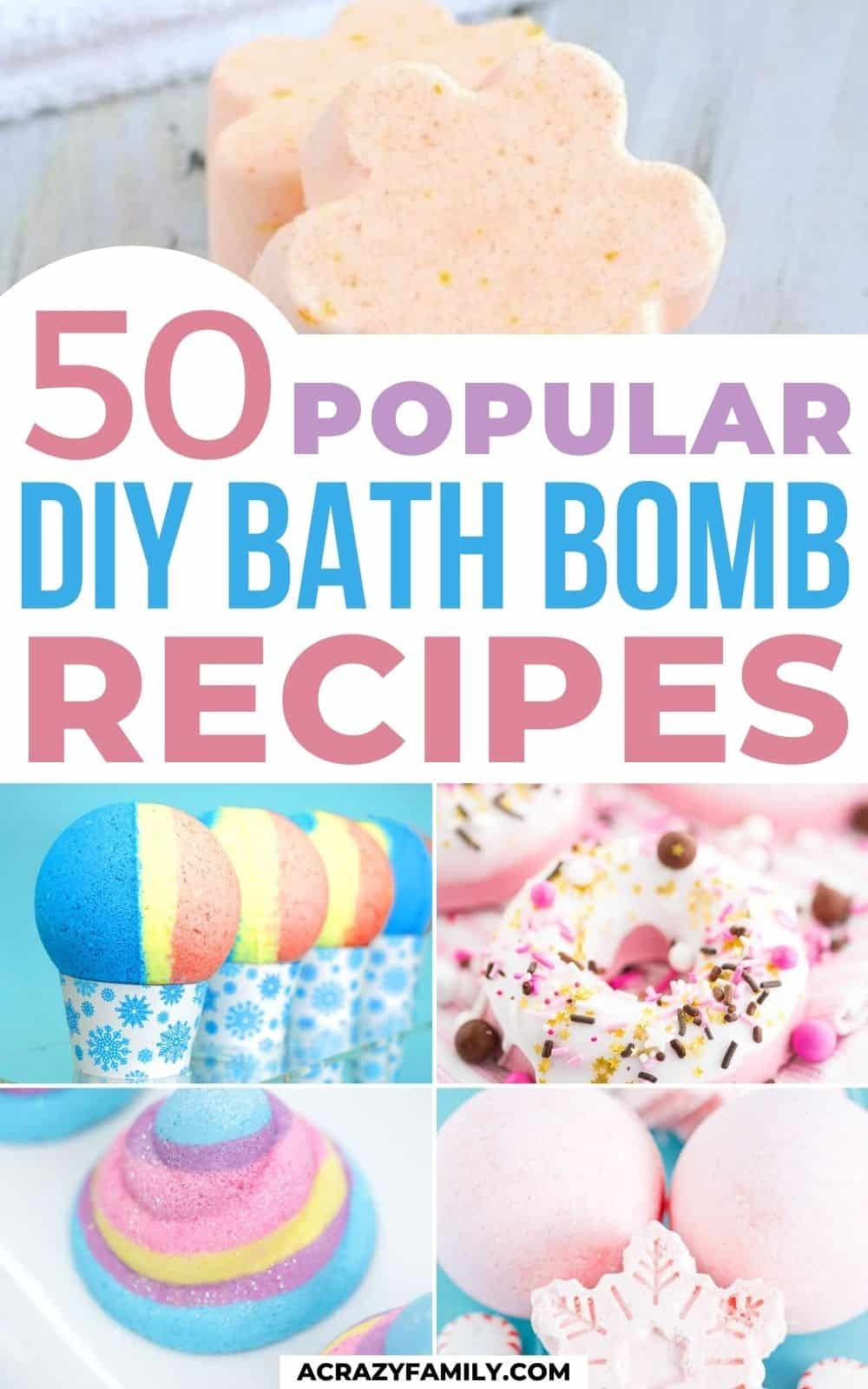 5 types of bath bombs