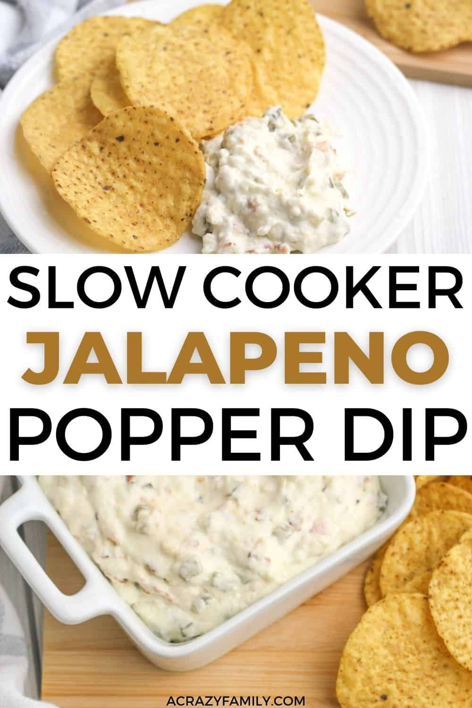 Slow Cooker Jalapeno Popper Dip