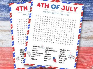 Free 4th of July Word Search Printable