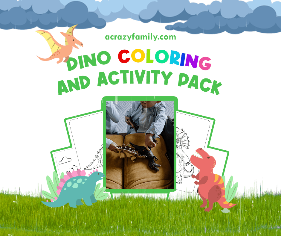 FREE Fun Dinosaur Coloring and Activity Pack Printable for Kids