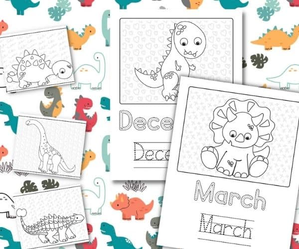 The Months of the Year Workbook Your Young Dinosaur Lover Will Enjoy